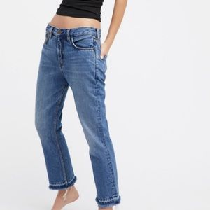 Free People Jeans Blue Cropped Boot Cut size 30